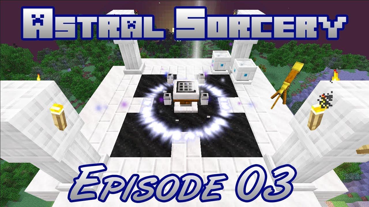 Minecraft Astral Sorcery Mod Walkthrough Part 03 | Wands and Altar Upgrades