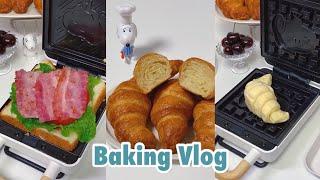 ENG)크로와상과 크로플, 식빵을 만들어보았다 !  빵…