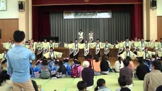 福井大学よっしゃこい2013年度演舞「夢光咲」 むこうへ 湊Jr.パフォーマ...