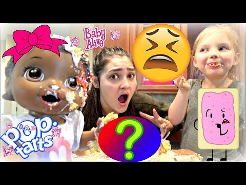 BABY ALIVE makes a POP-TART CAKE! The Lilly and Mommy Show! The TOYTASTIC Sisters. FUNNY SKIT