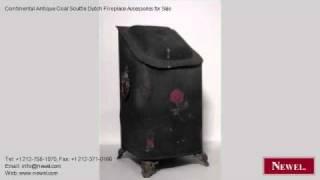 Continental Antique Coal Scuttle Dutch Fireplace Accessories