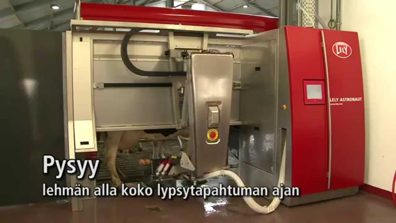 Lely Astronaut A4 - Milking robot arm (Finnish)