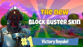 THE NEW BLOCK BUSTER SKIN GAMEPLAY| Fortnite Battle Royale