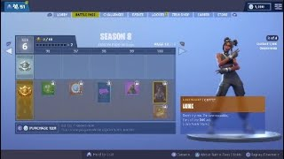 FORTNITE SEASON 8 TEAR 100 SKIN AND *NEW* BATTLE PASS