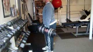 Joe Franco stiff legs with 145# db plus chains