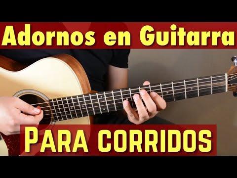 Adornos en Guitarra para Corridos