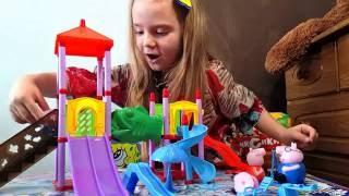 Свинка Пеппа українською мовою відео. Пеппа розпаковка іграшки. peppa pig  на українській мові