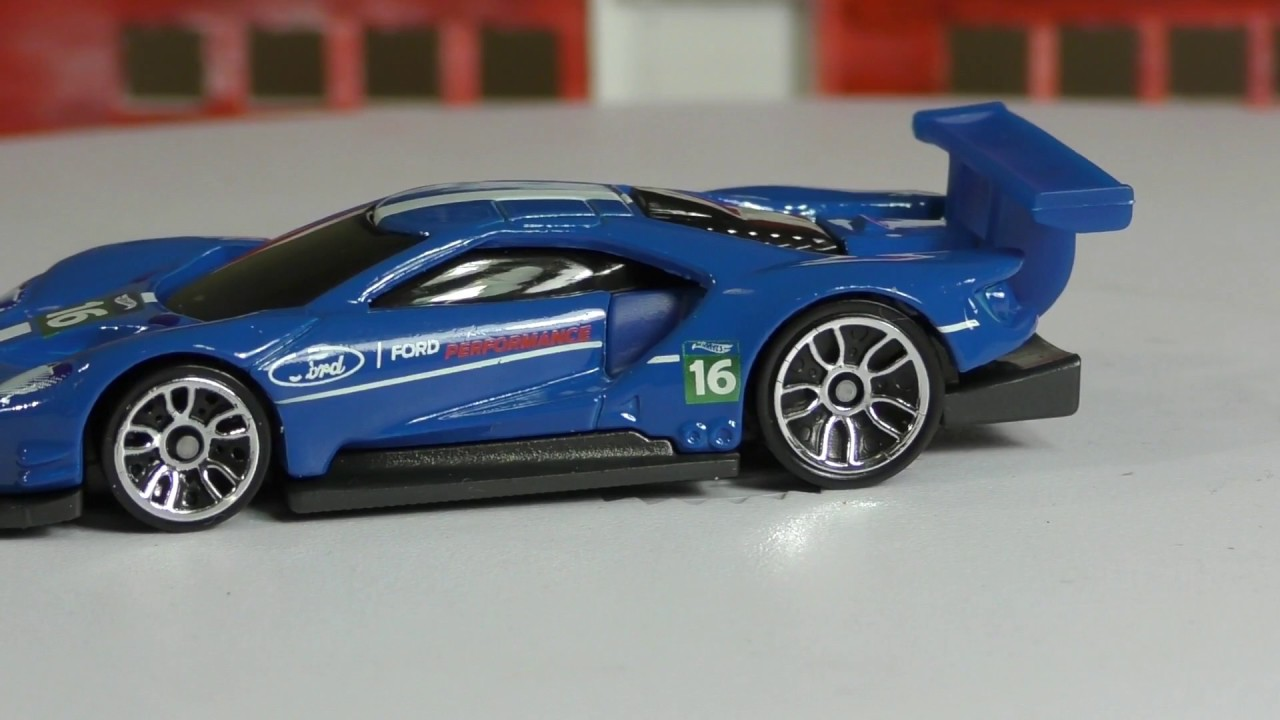 Hot Wheels H Case   Ford Gt Race New Model