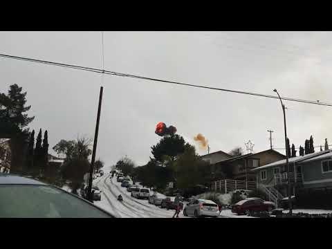 Lightning Strikes House on Snowy Day