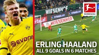 Haaland s Identical Goal vs Bremen Now 9 Goals in 6 Matches
