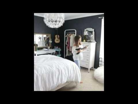 bedroom infused with trendy dark paint hues
