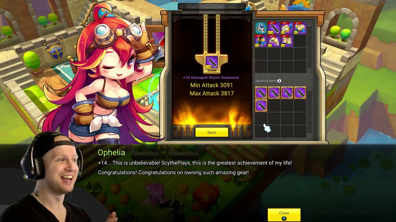 +14 Epic with 18% Chance | MapleStory 2 Enchanting