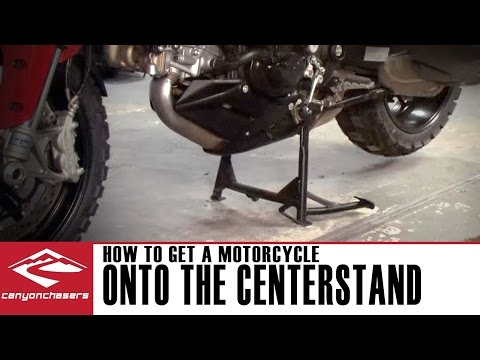 How to get a motorcycle on and off the centerstand