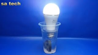 Free energy light bulbs Amazing with salt water & magnets - Experiment at home