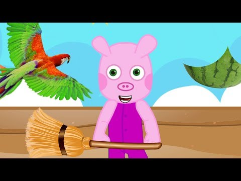 Download Youtube: PaPa pig 3 chasing birds, cartoons for children, animation movies for kids, big family
