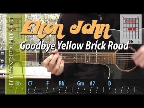 Elton John - Goodbye Yellow Brick Road acoustic guitar lesson
