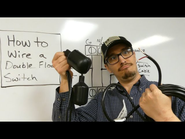 How to Wire a Double Float Pump Switch - YouTube | Two Float Switch System Schematic |  | YouTube