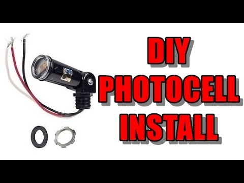 Dusk to dawn photocell switch installation - YouTube