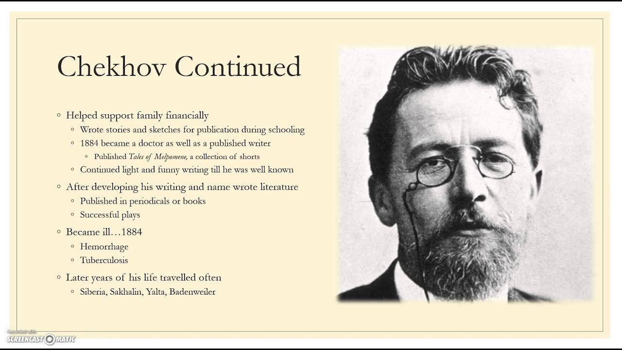 chekhov setting analysis the lady with Chekhov's short story the lady with the pet dog is embellished with flights of lyric description, melancholy imagery and cosmic speculation.