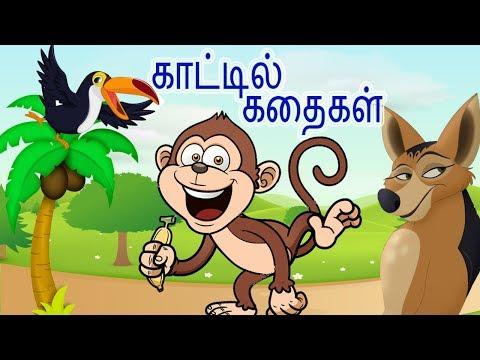 🐎காட்டில் கதைகள் |Jungle Stories For Kids | The Clever Jackal + The Hunter & Doves + Stupid Monkeys