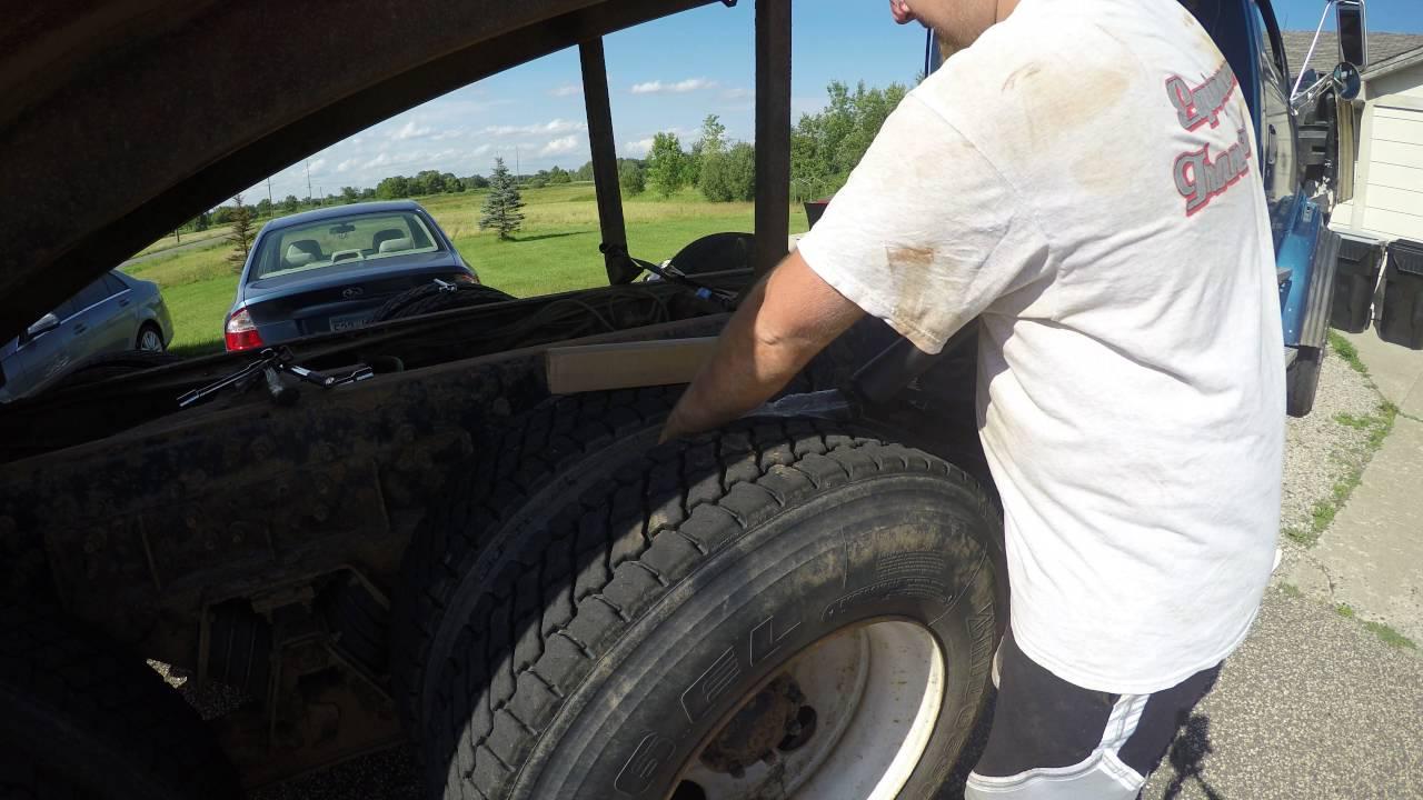 Good vs Bad Shock on a dump truck
