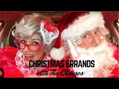 Christmas Errands with SANTA AND MRS. CLAUS!   Kristin and Danny