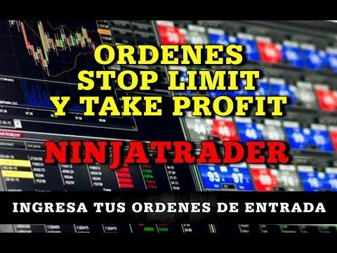 Cómo colocar ordenes, Stop Loss y Take Profit en Ninjatrader