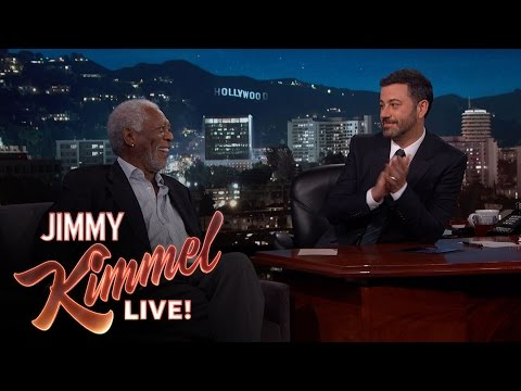 Morgan Freeman Narrates a Hollywood Blvd. Pedestrian