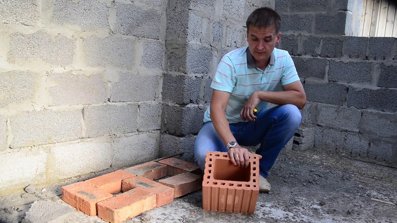 Вентканал в стене из керамзитобетона цементный раствор для фундамента купить
