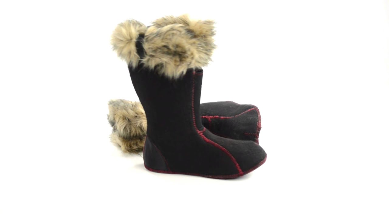 Sorel Boot Liners >> Sorel Joan Of Arctic Boot Liners Faux Fur Collar For Women Youtube
