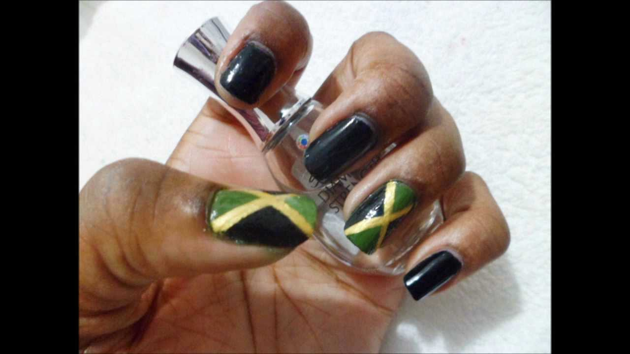 Jamaican Flag Nails - Jamaica 50 Collab with BeforeverGlam - YouTube