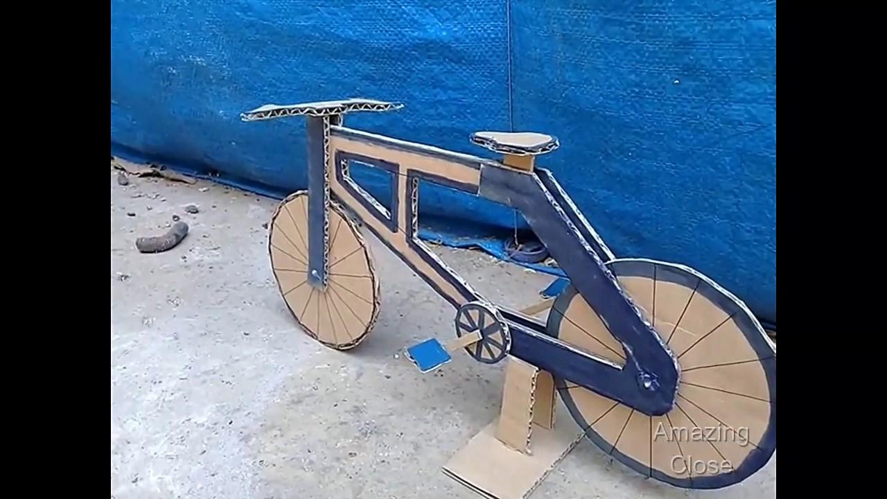 Cara Membuat Sepeda Dari Kardus Bekas Youtube