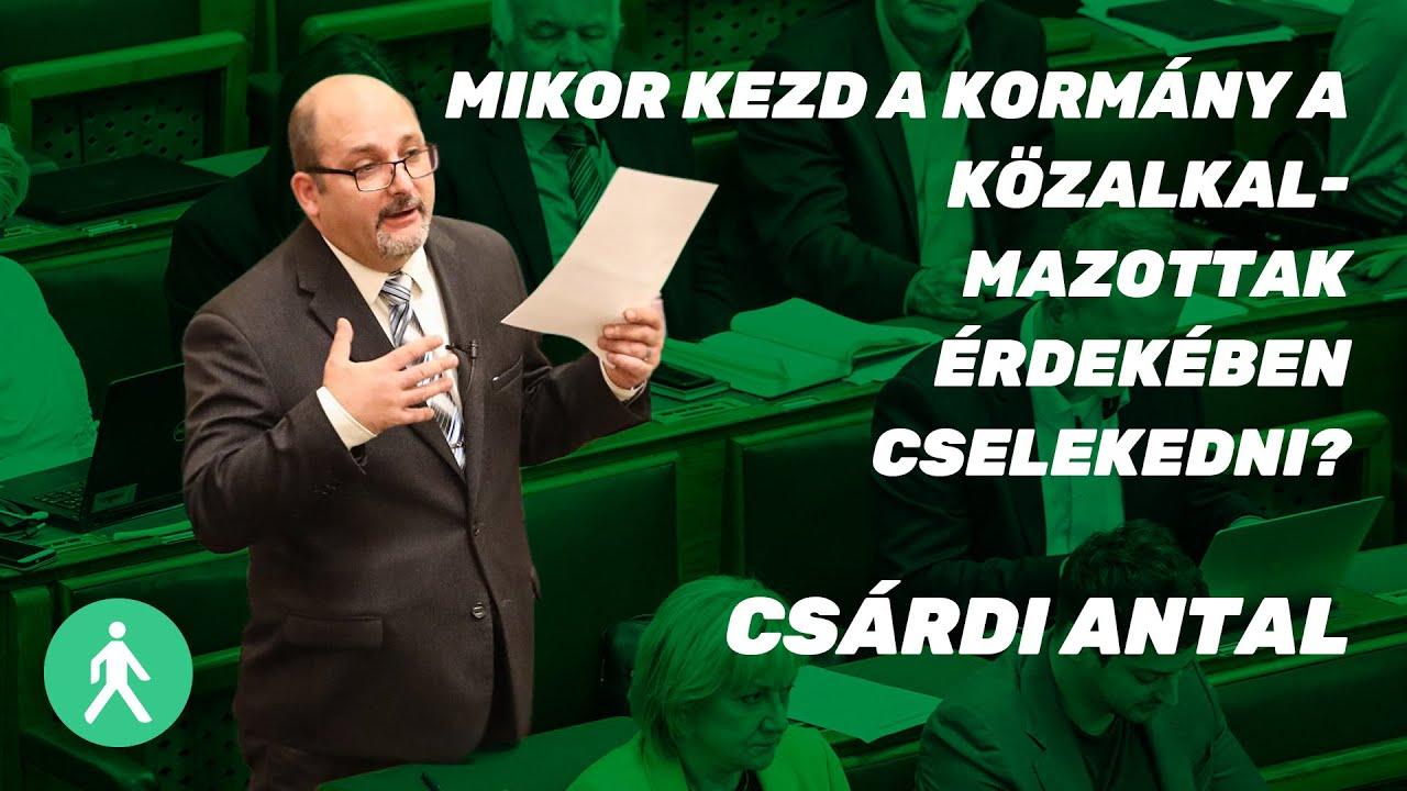 Mikor kezd a kormány a közalkalmazottak érdekében cselekedni? - Csárdi Antal   LMP   Parlament