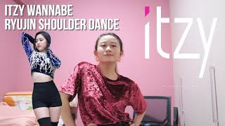 Download lagu ITZY 'WANNABE' Ryujin Shoulder Dance Tutorial   Step by Step Mirrored [Charissahoo]