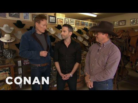 Conan Gives Jordan Schlansky A Cowboy Makeover