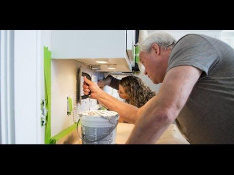 Installing A Subway Tile Backsplash For The Kitchen