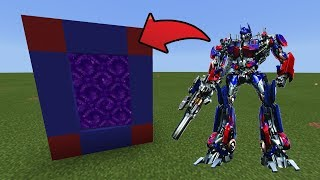 How To Make a Portal to the Transformer Dimension in MCPE (Minecraft PE)