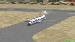 [FSX] McDonnell Douglas DC-9 de AVIACO aterrizaje en La Coruña - Alvedro