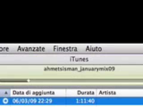 Live Ahmet Sisman January Mix 09 - Trackname?