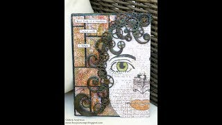 Steampunk girl canvas with Art Anthology