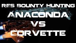 Elite: Dangerous 2.0 - Anaconda vs Corvette - RES Faceoff