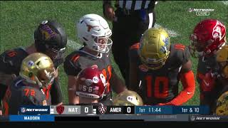 2021 Reese's Senior Bowl Practice : American Team vs Nation Team
