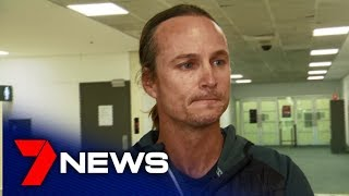 Shayna Jack's coach Dean Boxall speaks at Brisbane Airport | 7NEWS