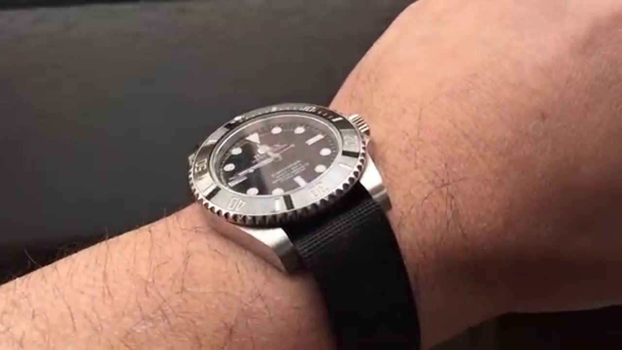 Submariner Ceramic On Nato Strap Youtube