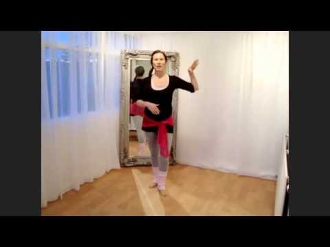 Bellydance tutorial: step ball change travelling step