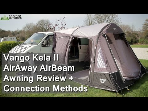 Vango Kela II AirAway AirBeam Awning Review + Connection Methods