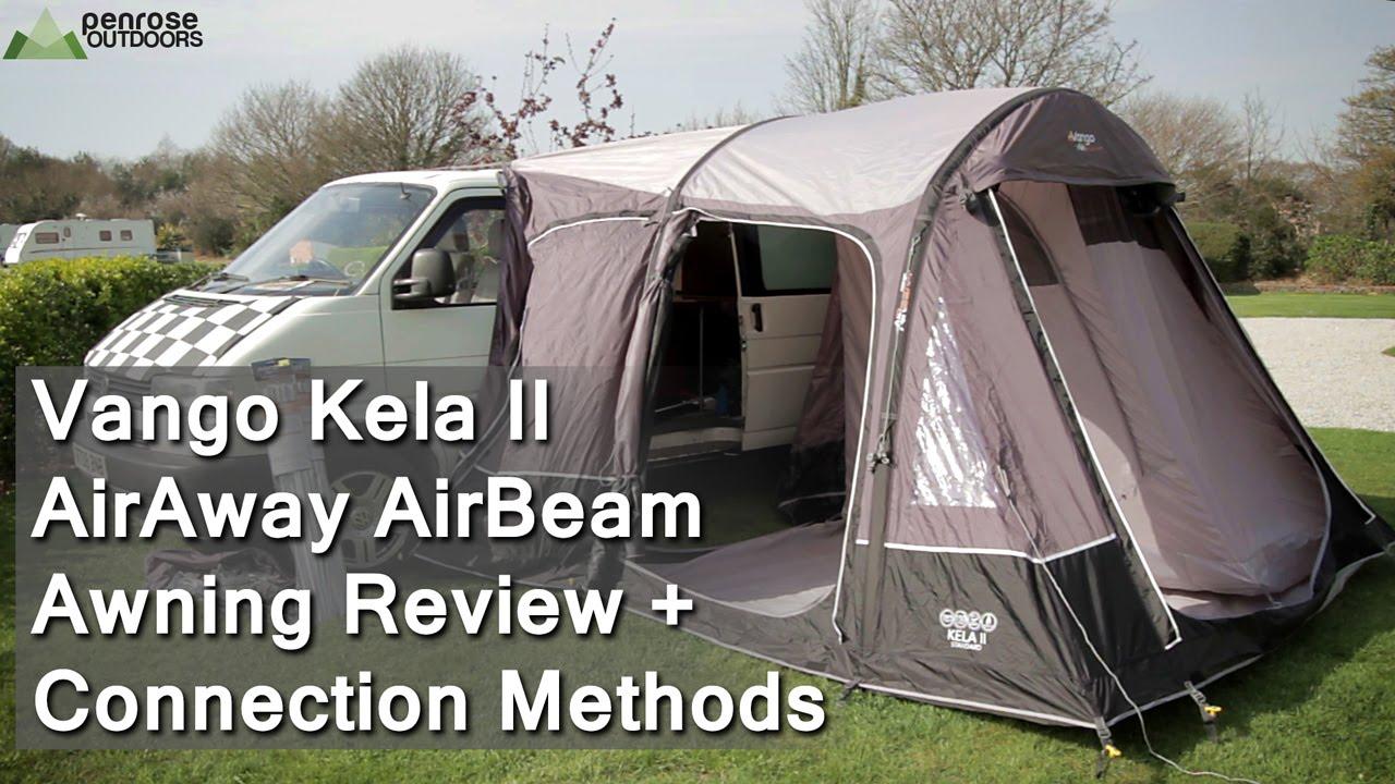 Vango Kela II AirAway AirBeam Awning Review Connection Methods