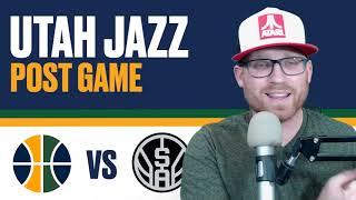 Utah Jazz vs San Antonio Spurs: Post Game Reaction - Jazz struggle to