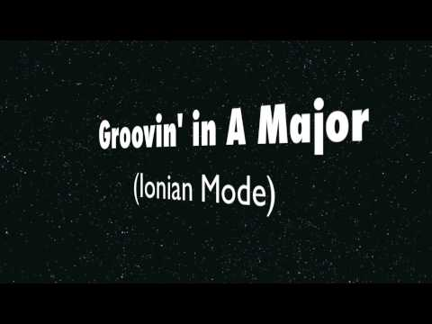 A Major (Ionian Mode) - Happy Groove Backing Track!