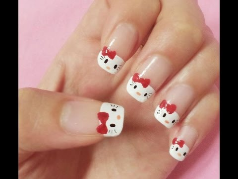 Home Nail Artsself Nail Art Designschanelflowerzebrahello Kitty